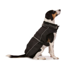 Áo cho chó Dog Gone Smart Aspen Parka with Fur Trim Black