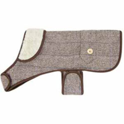 Áo cho chó Earthbound Tweed Sherpa Dog Coat Beige