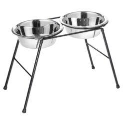 Bát ăn cho chó Classic High Dog Bowl Stand with 2 x 2.5 Litre Dishes
