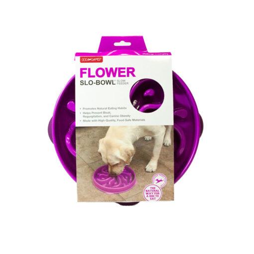 Bát ăn cho chó Dog Games Flower Slo-Bowl