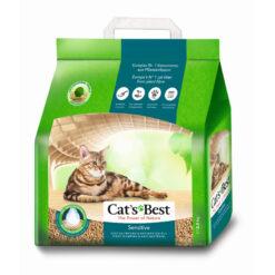 Cát vệ sinh cho mèo Cat's Best Sensitive Organic Wood Fine Granule Ultra Clumping Cat Litter