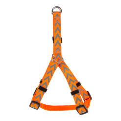 Đai ngực cho chó Dog Walk Reflective Chevron Dog Harness Orange