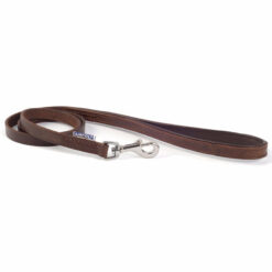 Dây dắt chó Ancol Leather Dog Lead Chestnut