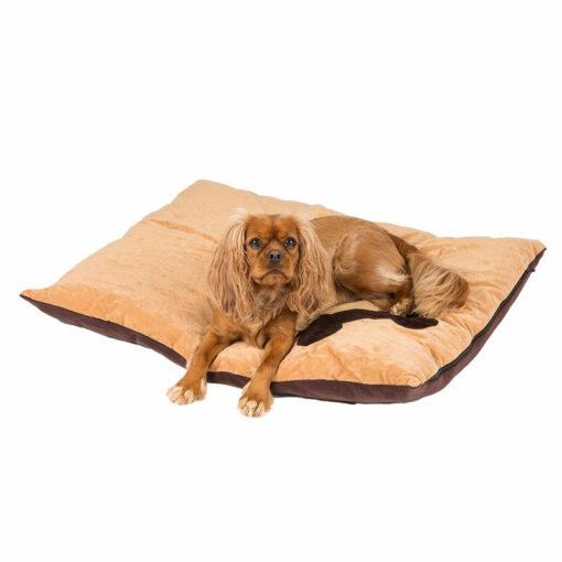 Đệm cho chó Creature Clothes Tan Corner Bone Print Dog Doza