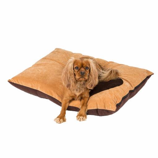 Đệm cho chó Creature Clothes Tan Corner Paw Print Dog Doza