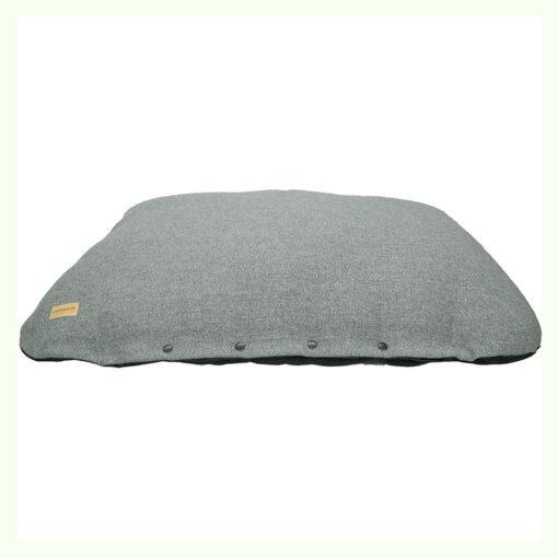 Đệm cho chó Earthbound Flat Tweed Dog Cushion Steel Grey