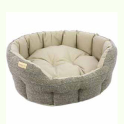 Đệm cho chó Earthbound Traditional Tweed and Waterproof Dog Bed Beige