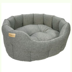 Đệm cho chó Earthbound Traditional Tweed Dog Bed Steel Grey