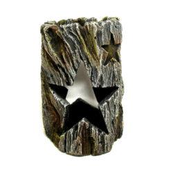Đồ trang trí bể cá Classic Bark with Star Swinthru Aquarium Ornament Brown