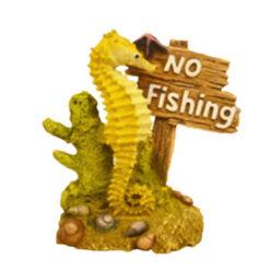 Đồ trang trí bể cá Classic No Fishing and Seahorse Ornament