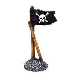 Đồ trang trí bể cá Classic Pirate Flag with Skull Aquarium Ornament