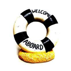 Đồ trang trí bể cá Classic Welcome Aboard Ring Aquarium Ornament