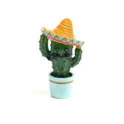 Đồ trang trí cho bể cá Aqua Town Sombrero Cactus Aquarium Ornament