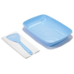 Khay vệ sinh cho mèo Clean 'n' Tidy Blue Kitten Starter Kit