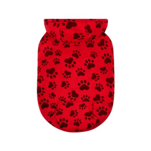 Quần áo cho chó Canada Pooch Mollie and Ollie Print Fleece Red Dog Hoody Small
