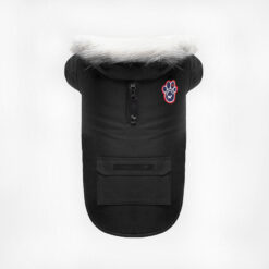 Quần áo cho chó Canada Pooch Winter Wilderness Dog Coat Black