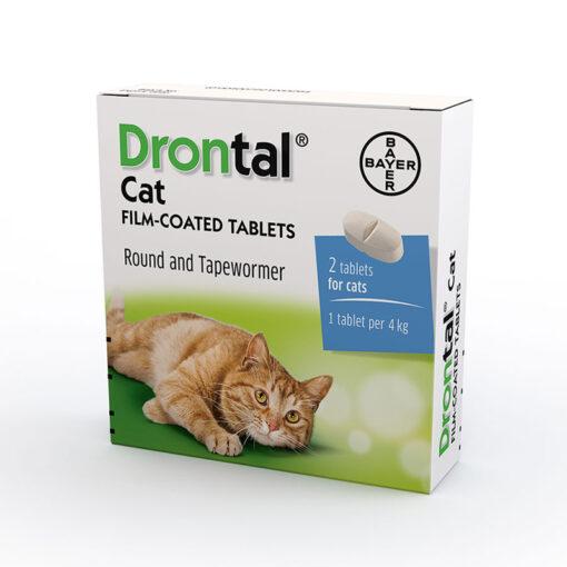Thuốc tẩy giun cho mèo Drontal Worming Tablets