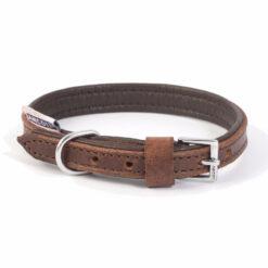Vòng cổ cho chó Ancol Leather Dog Collar Chestnut