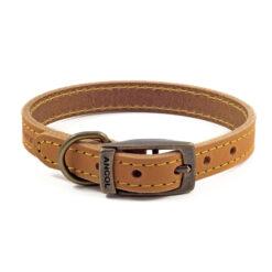 Vòng cổ cho chó Ancol Timberwolf Tan Leather Dog Collar