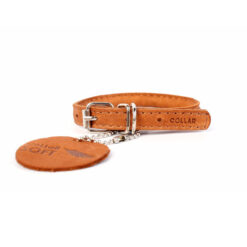 Vòng cổ cho chó Collar Rolled Leather Toy Dog Collar Tan