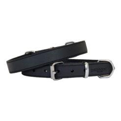 Vòng cổ cho chó Earthbound Soft Country Leather Black Dog Collar