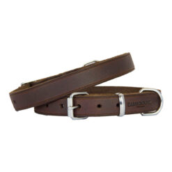 Vòng cổ cho chó Earthbound Soft Country Leather Brown Dog Collar