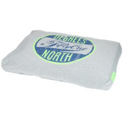 Nệm cho chó nằm 51DegreesNorth Sweater Style Box Pillow Fluoroescent Green Light Grey Large