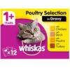 Thức ăn cho mèo Whiskas 1+ Adult Cat Food Pouches Poultry Selection in Gravy