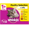Thức ăn cho mèo Whiskas 1+ Adult Cat Food Pouches Poultry Selection in Jelly