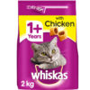 Thức ăn cho mèo WHISKAS Adult Cat Food Complete Dry with Chicken