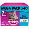 Thức ăn ướt cho mèo Whiskas Fish Selection in Jelly 7+ Years Senior Cat Wet Food